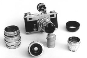 Guy Griffiths' Zeiss Contax 35mm camera and lenses.