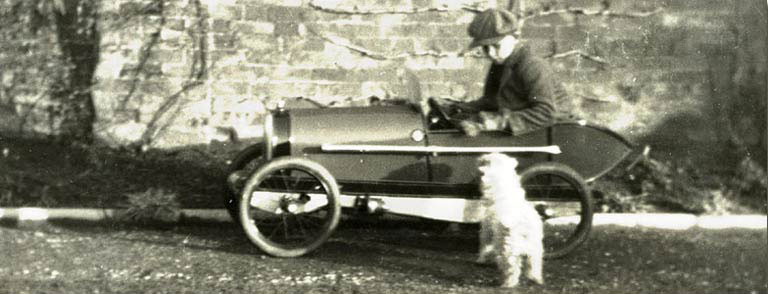 Guy griffiths in his first car