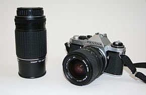 Guy's Pentax ME Super and Pentax 200mm lens