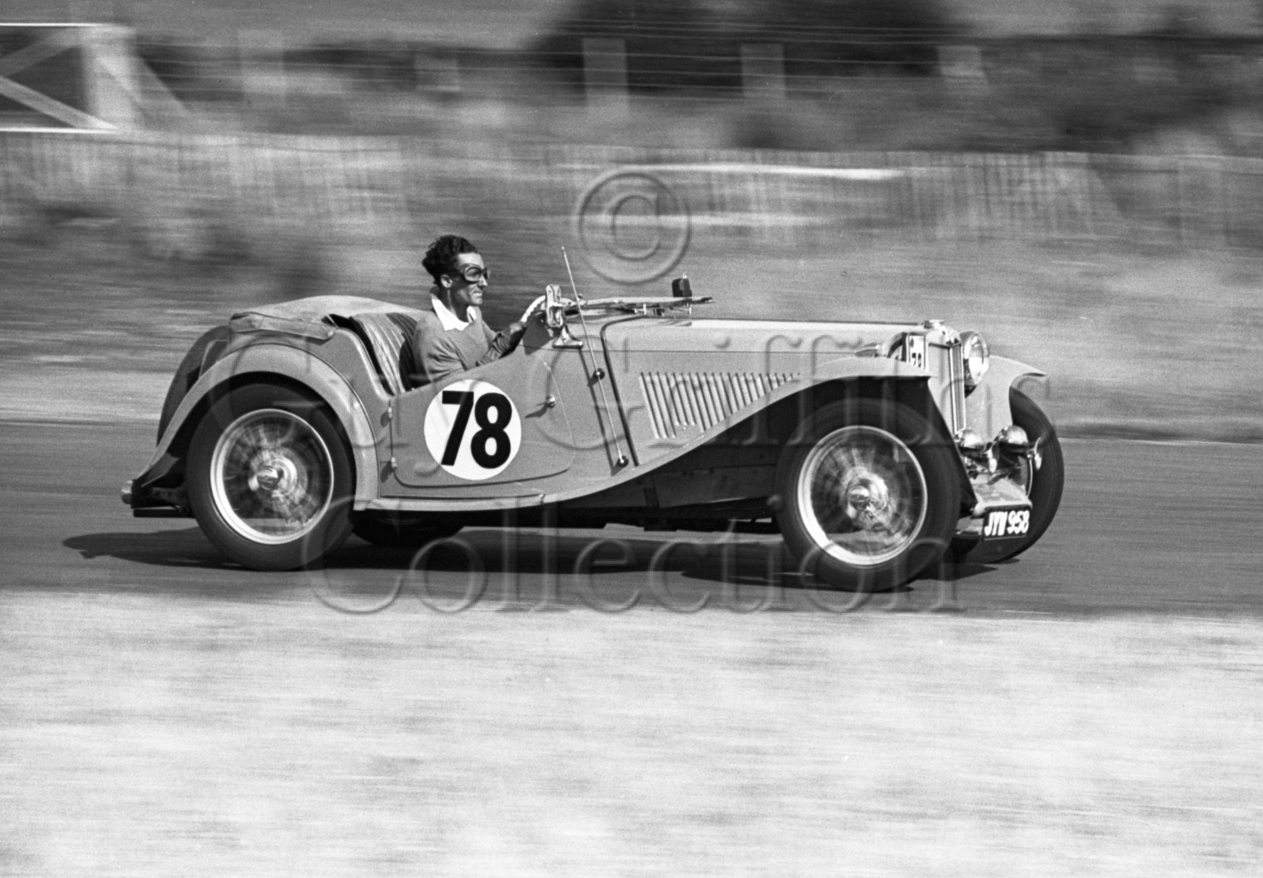 20–704–J-A-Young–MG–Goodwood–13-08-1949.jpg - Guy Griffiths Collection