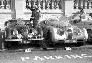 61-151–M-Levy–Jaguar-XK-120-AJK-48–Brighton–06-09-1952.jpg - Guy Griffiths Collection