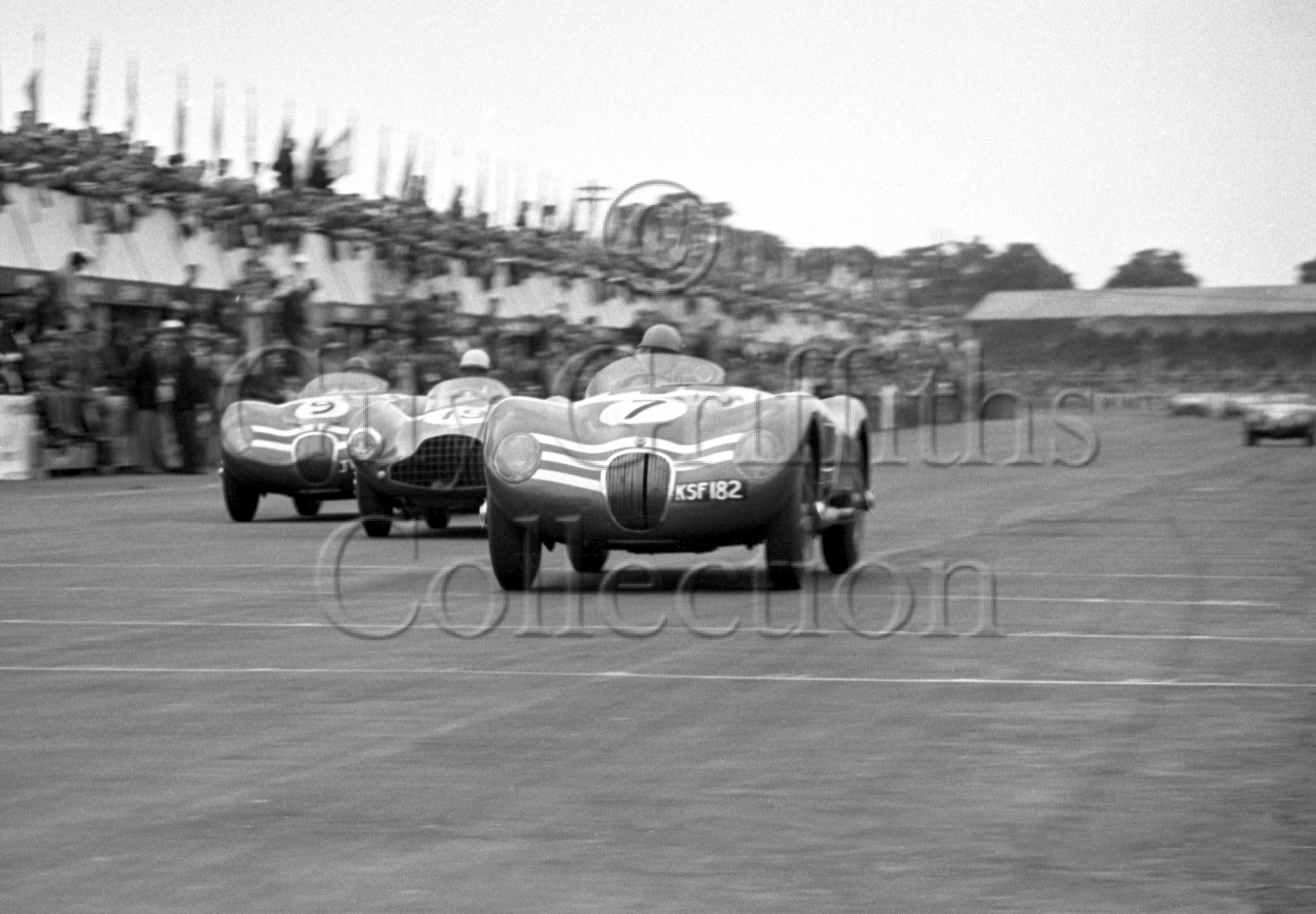 74-53–N-Sanderson–Jaguar-C-Type-KSF-182–Silverstone–18-07-1953.jpg - Guy Griffiths Collection