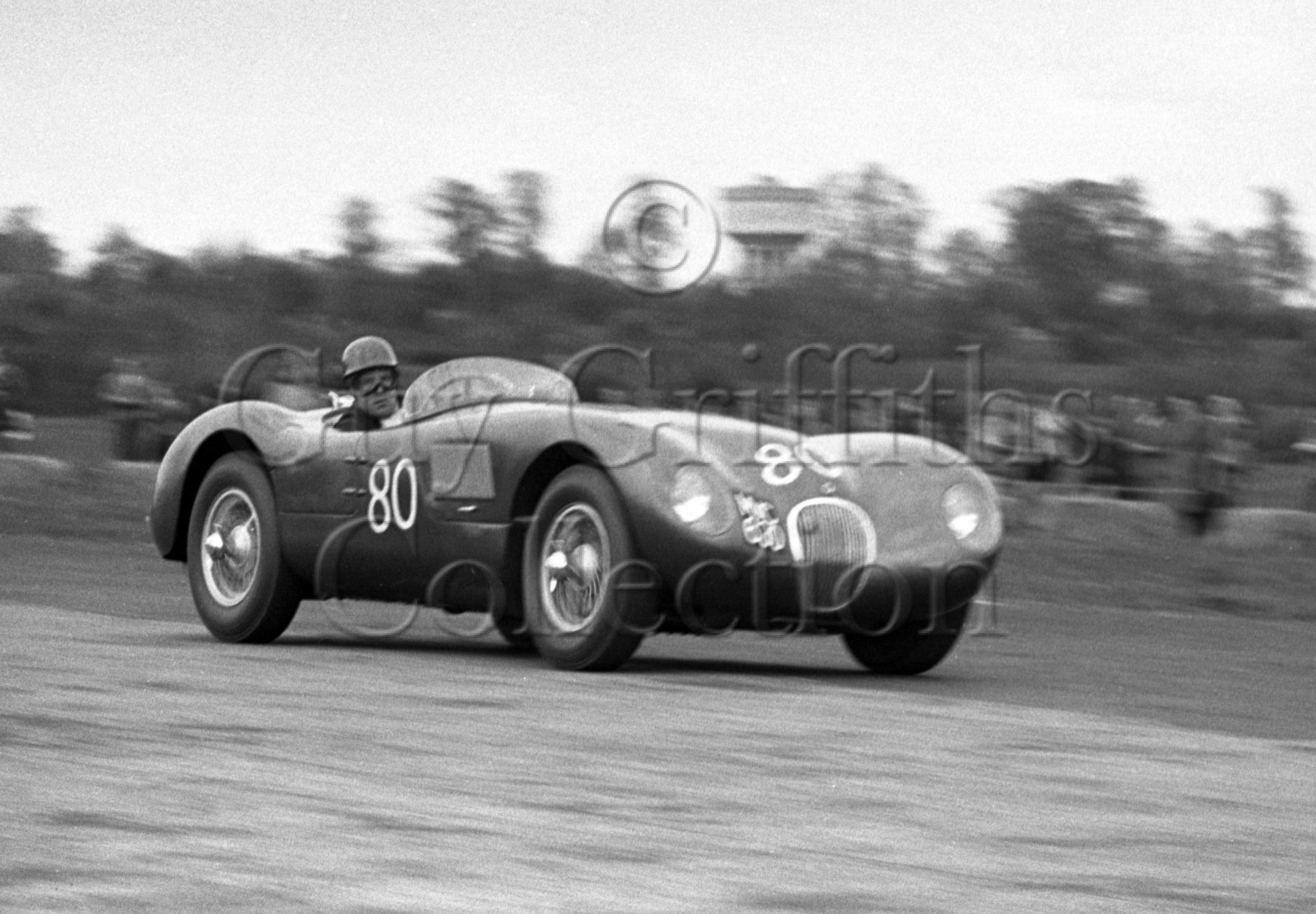 67-631–J-M-L-Scott-Douglas–Jaguar-C-Type–Castle-Combe–25-04-1953.jpg - Guy Griffiths Collection