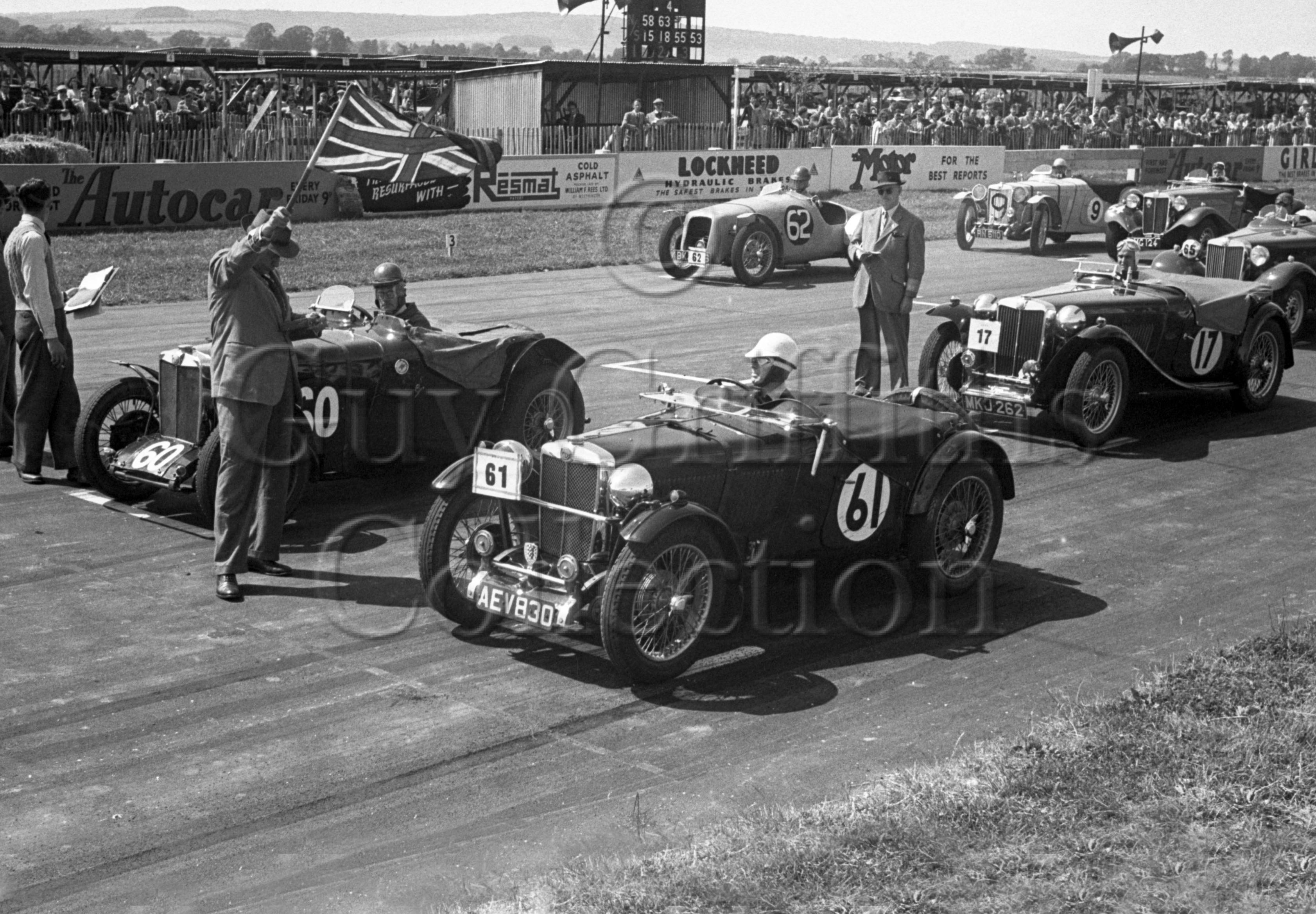 46-61–D-J-Wheeler-17–S-A-Mitchell-60–W-P-Jones-61–J-Nicholson-62–MG–Goodwood–16-06-1951.jpg - Guy Griffiths Collection